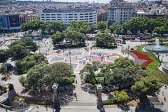 Placa Espana στη Βαρκελώνη, Ισπανία Στοκ Εικόνα