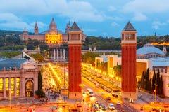 Placa Espanya在巴塞罗那,卡塔龙尼亚,西班牙 免版税库存图片