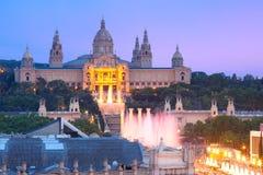 Placa Espanya在巴塞罗那,卡塔龙尼亚,西班牙 免版税库存照片