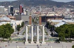Placa Espanya à Barcelone, Espagne Photographie stock