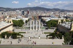 Placa Espanya à Barcelone, Espagne Images stock