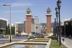 Placa Espanya à Barcelone, Espagne Photo stock