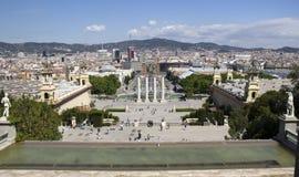 Placa Espanya à Barcelone, Espagne Photo libre de droits