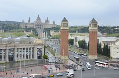 Placa Espanya Βαρκελώνη, Καταλωνία, Ισπανία Στοκ εικόνες με δικαίωμα ελεύθερης χρήσης