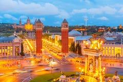 Placa Espanya στη Βαρκελώνη, Καταλωνία, Ισπανία Στοκ Εικόνα