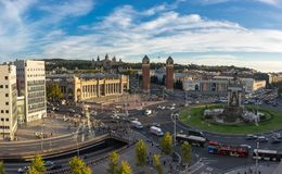 Placa δ ` Espanya στη Βαρκελώνη Στοκ Εικόνα