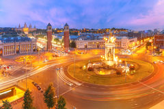 Placa Espanya in Barcelona, Catalonia, Spain royalty free stock image