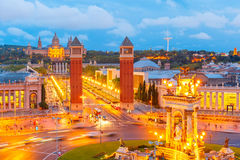 Placa Espanya in Barcelona, Catalonia, Spain Stock Image