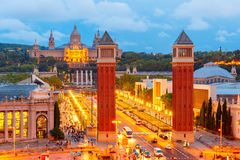 Placa Espanya in Barcelona, Catalonia, Spain Royalty Free Stock Images