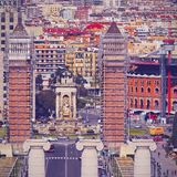 Placa Espanya in Barcelona Stock Photography