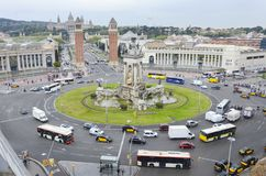 Placa Espanya Barcelone, Catalogne, Espagne Photo stock