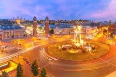 Placa Espanya em Barcelona, Catalonia, Espanha imagem de stock royalty free