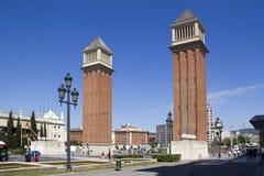 Placa Espanya en Barcelona, España Imagen de archivo libre de regalías