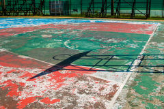 Placa exterior do anel da aro da rede do campo de básquete do basquetebol exterior Foto de Stock