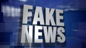 Placa falsa dinámica de la transición y del fondo del título de las noticias almacen de metraje de vídeo