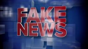 Placa falsa dinámica del fondo de la página de título de las noticias almacen de video