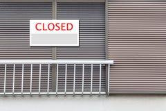 Placa fechada do sinal imagem de stock royalty free