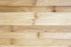 Placa feita da madeira de bambu natural Fundo do teste padrão das texturas mim fotografia de stock