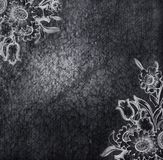 Placa floral do metal Fotografia de Stock