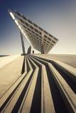 Placa fotovoltaica en Barcelomna Imagen de archivo libre de regalías