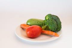 Placa fresca de verduras Fotos de archivo