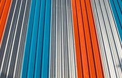 Placa galvanizada do ferro Fotografia de Stock