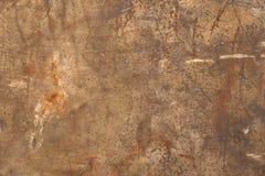 Placa galvanizada oxidada suja velha do ferro fotografia de stock