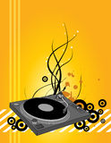 Placa giratoria de DJ Imagen de archivo libre de regalías