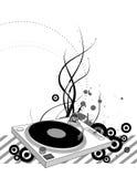 Placa giratoria de DJ Foto de archivo libre de regalías