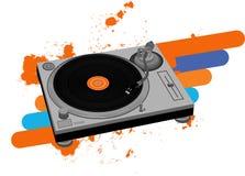 Placa giratoria de DJ Fotos de archivo libres de regalías