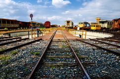 Placa giratoria ferroviaria vieja Imagenes de archivo