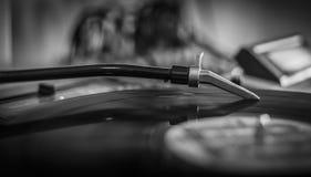 Placa giratoria: primer de una aguja Fotografía de archivo