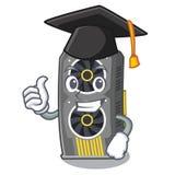 Placa gráfica video da graduação isolada com desenhos animados ilustração do vetor