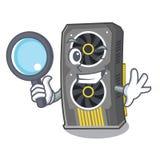 Placa gr?fica video do detetive isolada com desenhos animados ilustração do vetor