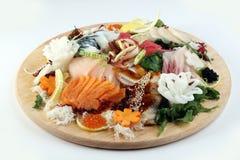 Placa grande del sashimi Imagenes de archivo