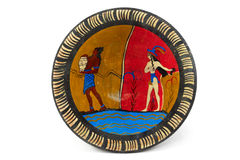 Placa griega imagen de archivo