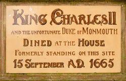 Placa histórica, Poole Foto de archivo