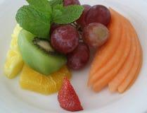 Placa III da fruta fotos de stock