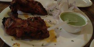 Placa indiana do alimento imagens de stock