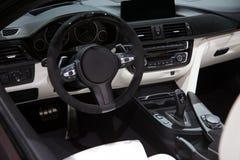 Placa interior do traço da instrumentação do carro fotos de stock