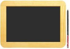 Placa isolada da ardósia em branco Fotos de Stock