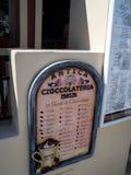 Placa italiana do menu do pasticceria do caffe Imagens de Stock