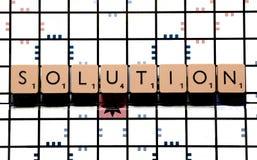 Placa-jogo da solução imagem de stock