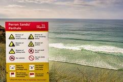 Placa litoral da informação Fotos de Stock Royalty Free