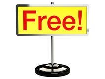 Placa livre do sinal Fotos de Stock Royalty Free