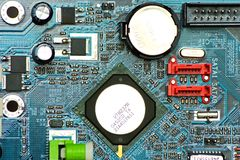 Placa madre de la batería Imagenes de archivo