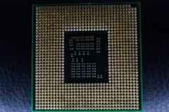 Placa madre del chipset de Digitaces con el microprocesador de procesador Imagen de archivo