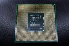 Placa madre del chipset de Digitaces con el microprocesador de procesador Imagen de archivo libre de regalías