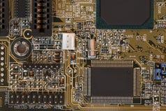 Placa madre del ordenador - circuitos Fotografía de archivo libre de regalías