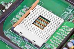 Placa madre del ordenador, zócalo de la CPU Fotos de archivo
